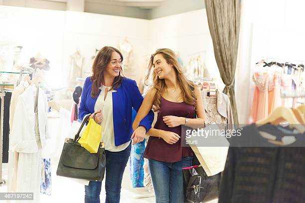 mother and daughter shopping trip