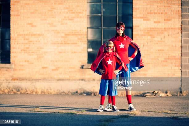Mère et fille les super héros