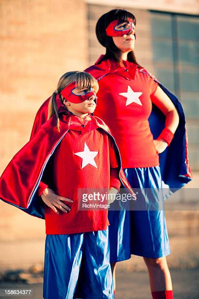 Mother and Daughter Superheroes