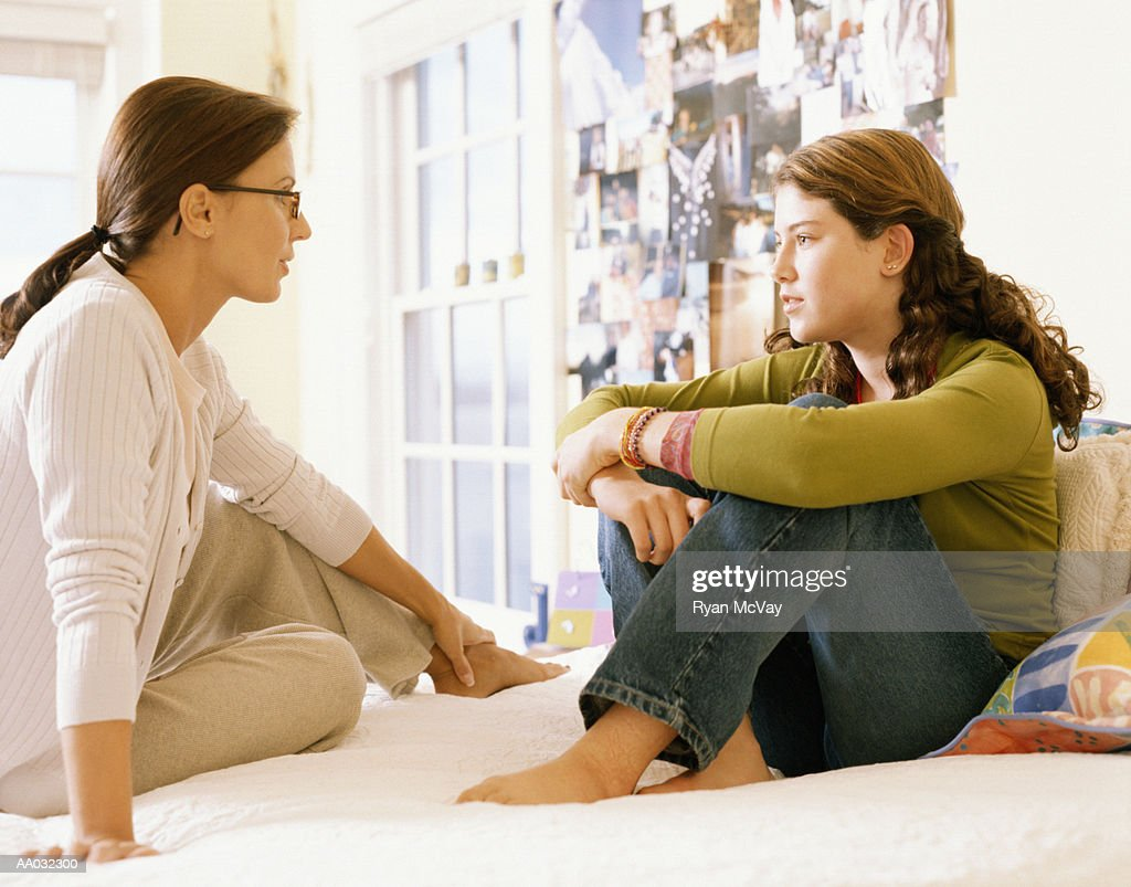 Mother and Daughter Talking : Stock Photo