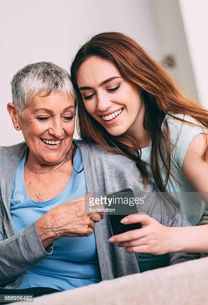 Mother and daughter texring