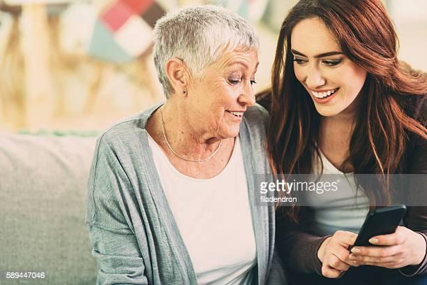 Mutter und Tochter texring