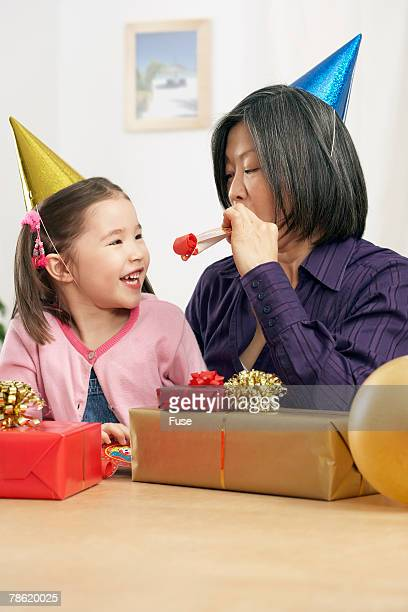 Mother and Daughter With Birthday Presents