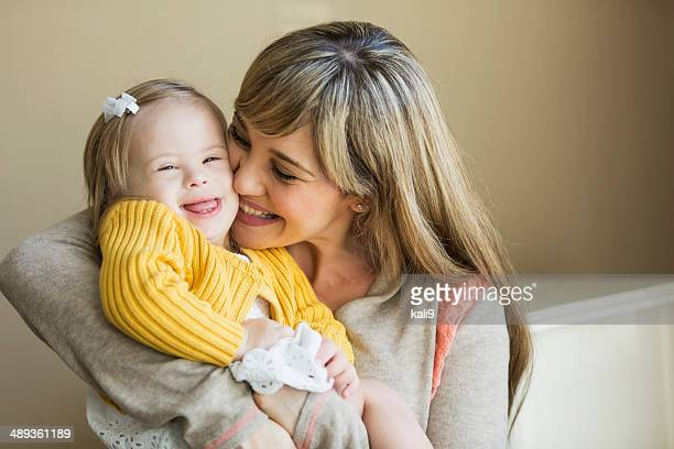 mother and daughter with down syndrome - down syndrome stock pictures, royalty-free photos & images