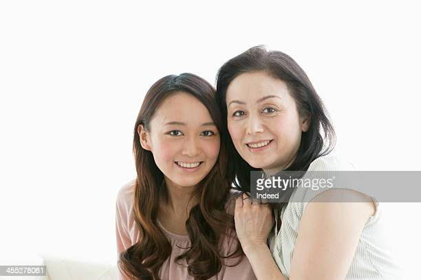 Mother and daughter with good relations