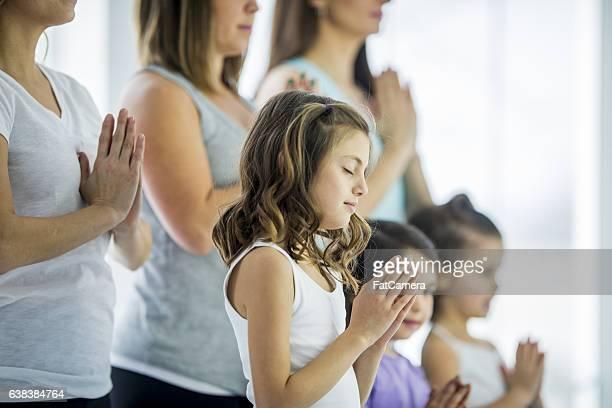 Mother and Daughter Yoga Class