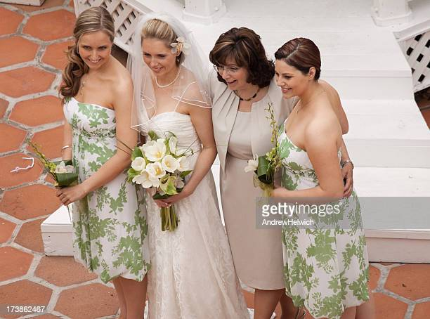 Mother and Daughters at Wedding