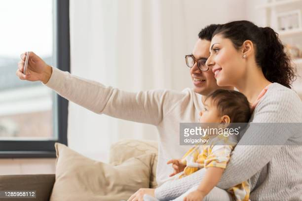 family technology parenthood people concept happy