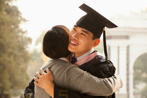 Mother and Graduate Hug 462464959
