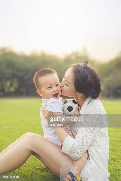 Mother and kid enjoying time