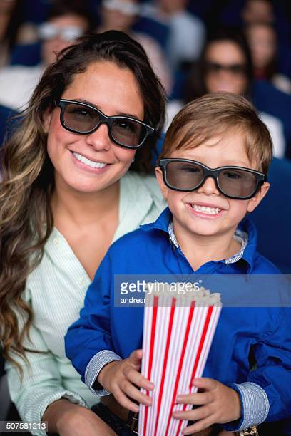 Mother and son at the cinema