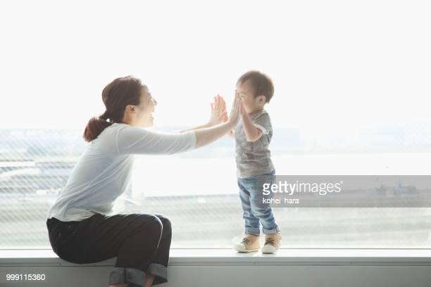 母と息子のコミュニケーション