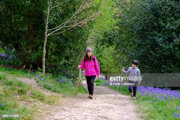 mother and son countryside walk - peter lourenco imagens e fotografias de stock