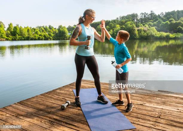 Mother and Son Fitness