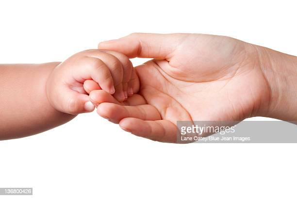 Mother and Son Holding Hands
