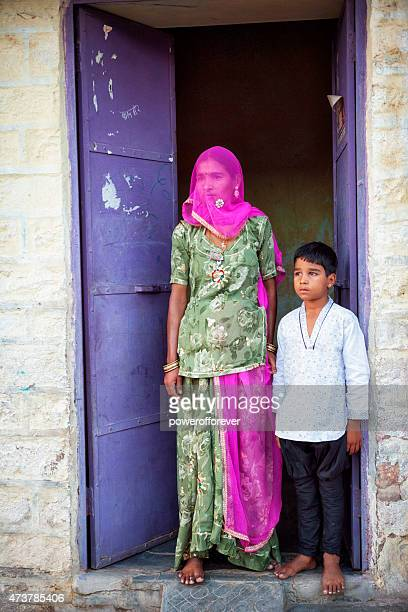 Mother and Son in Jodhpur, India