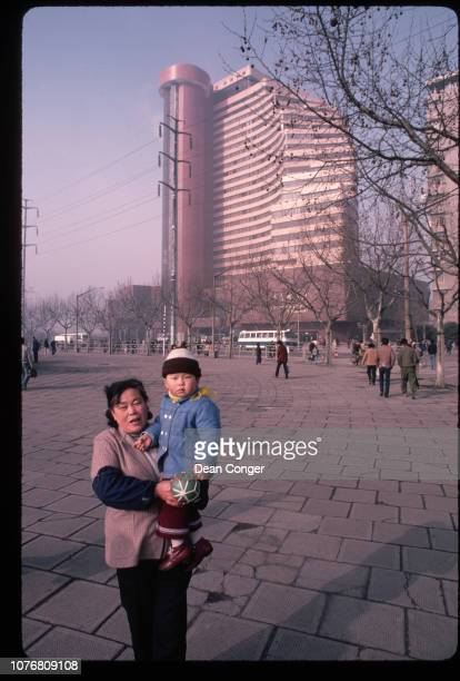 Mother and Son in Shanghai