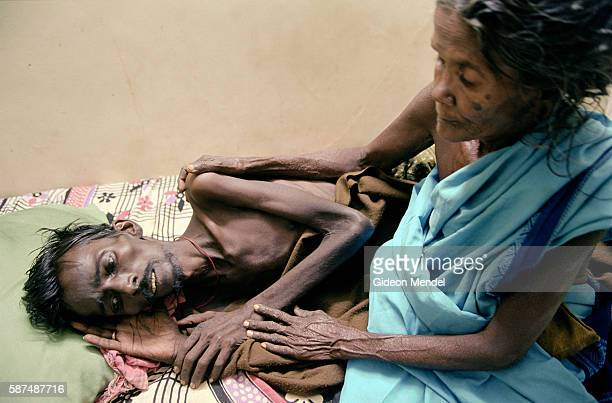 Mother and son in the terminal ward of Arulagam Hospice This hospice is often the last refuge for people dying of AIDSrelated diseases as they are...