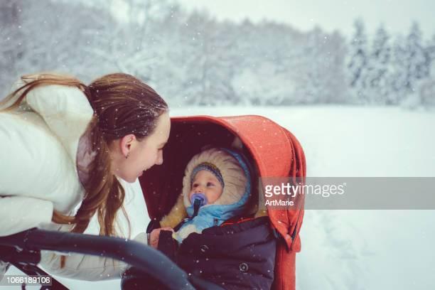 Mutter und Sohn in Winter park