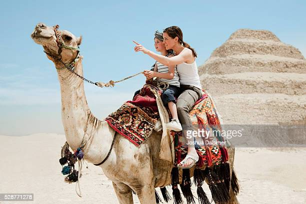 Mother and son on a camel