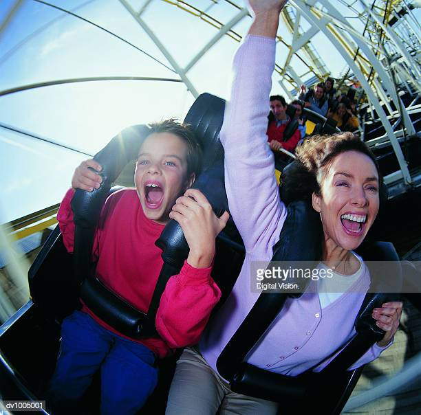 Mother and Son on a Roller Coaster