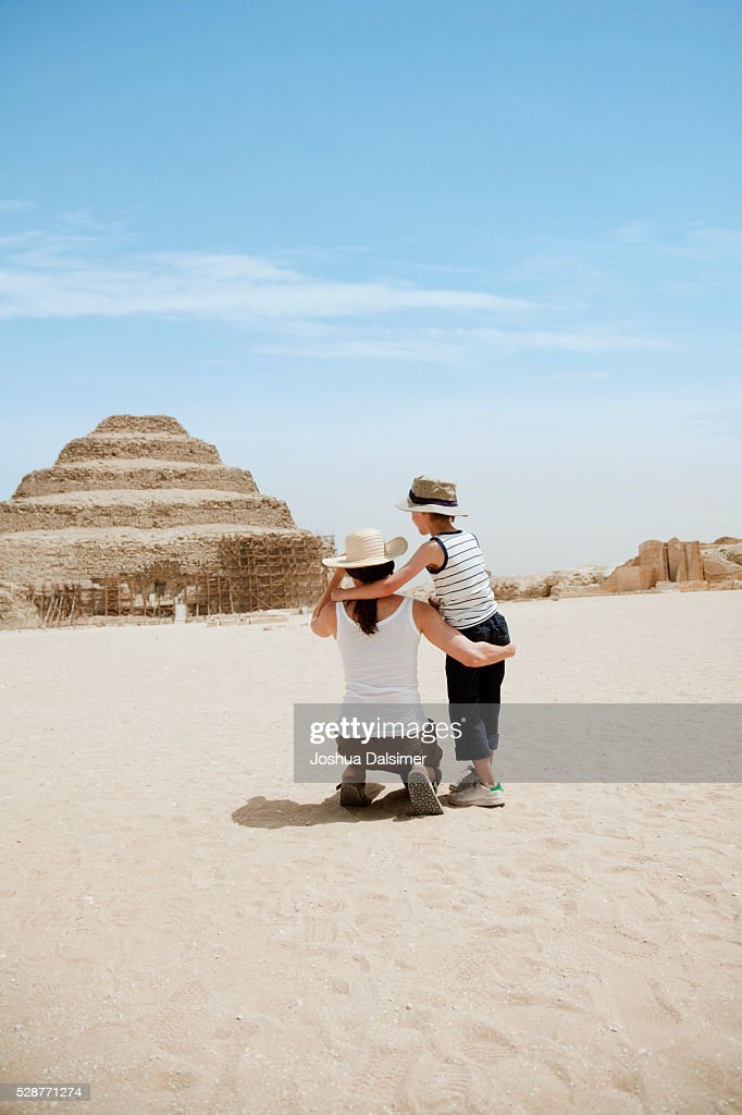 Mother and son on vacation : Stock Photo