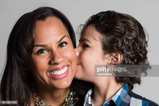 mother and son - mexican mothers day stock photos and pictures