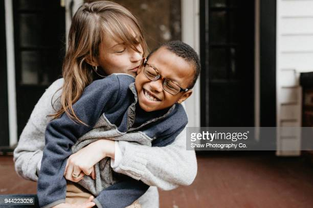 mother and son - affectionate stock pictures, royalty-free photos & images