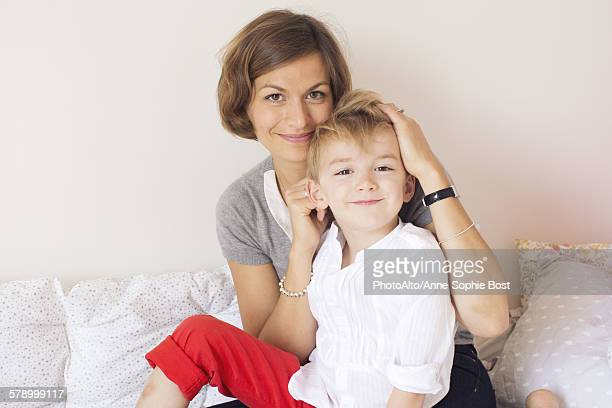 Mother and son, portrait