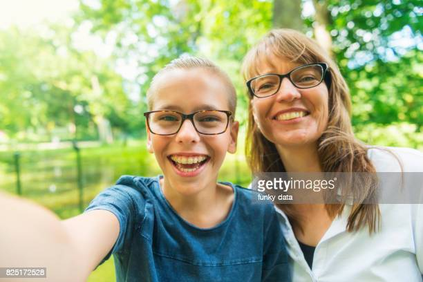 mother and son selfie pov - dutch culture stock pictures, royalty-free photos & images