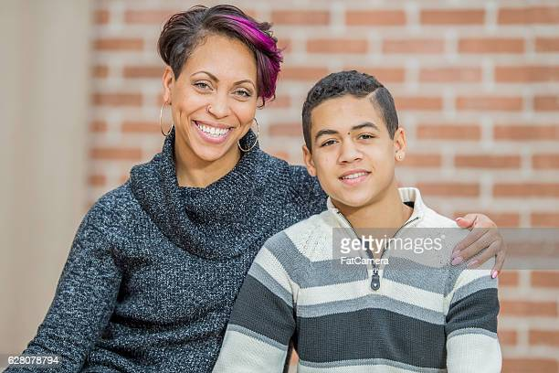 Mother and Son Sitting Together