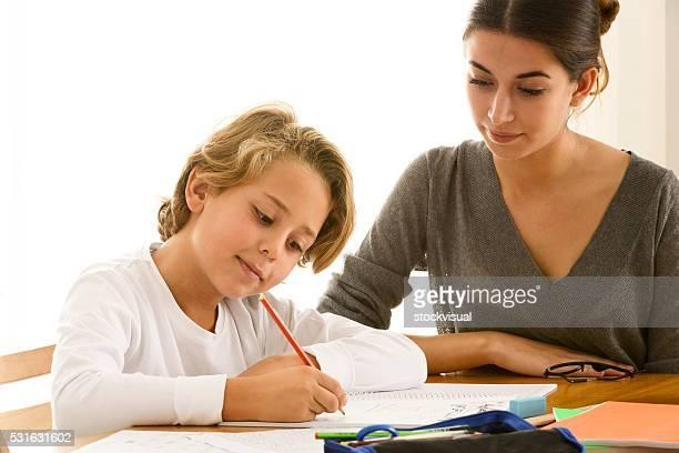 Mère et fils Étudiant