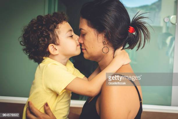 mother and son with love. - latino americano imagens e fotografias de stock