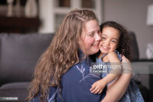 mother bonding with daughter - single mother stock photos and pictures
