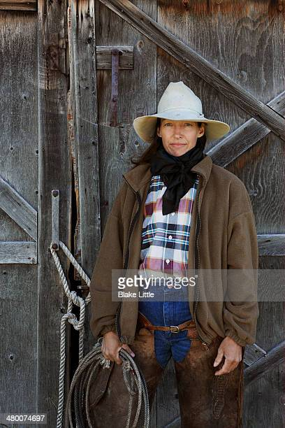 Mother cowgirl rancher