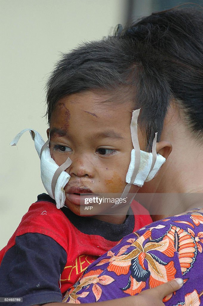 Mother Helps Injured Son