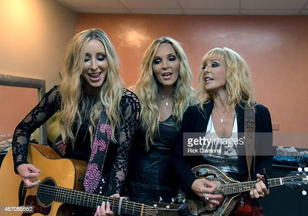 Mother Daughter Country Trio Lucy Angel L/R Emily Anderton Lindsay Anderton and Kate Anderton perform at Atlantis Paradise Island on October 11 2014...
