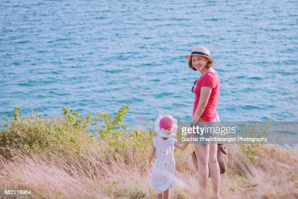 Mother & daughter enjoying the view