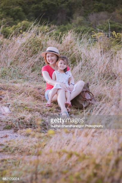 Mother & daughter having a great time outdoor