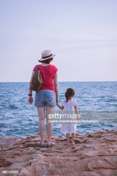 Mother & daughter having a great view