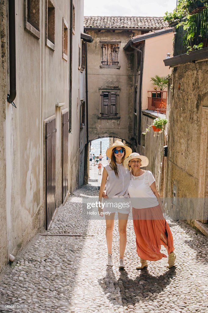Mother & daughter on vacation : Stock Photo