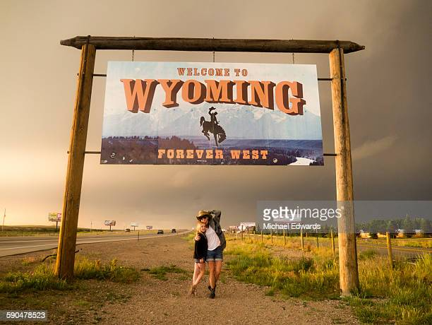 mother daughter wyoming sign