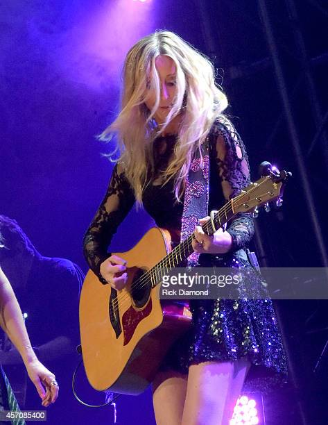Mother Daughters Country Trio Lucy Angel's Emily Anderton perform at Atlantis Paradise Island on October 11 2014 in Nassau Bahamas