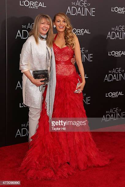 Mother Elaine Lively and daughter Blake Lively and Michiel Huisman attend The Age of Adaline premiere at AMC Loews Lincoln Square 13 theater on April...