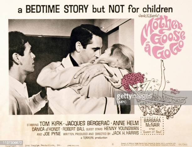 Mother Goose A Gogo lobbycard from left Tommy Kirk Jacques Bergerac Anne Helm 1966