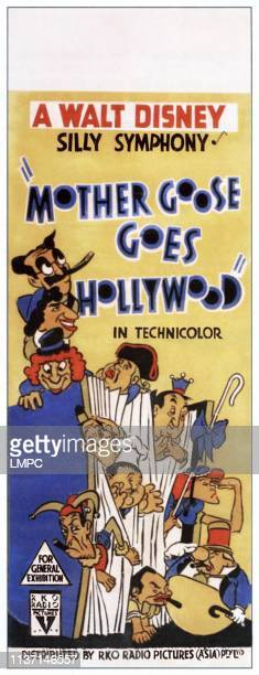 Mother Goose Goes Hollywood poster from top left The Marx BrothersGroucho Marx Chico Marx Harpo Marx Charles Laughton Hugh Herbert Katharine Hepburn...