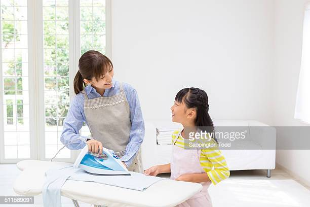 Mother Ironing Clothes
