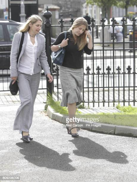 Mother Julie and sister Jess at Nenagh Court House CoTipperary where barmen Gary Wright and Aidan Dalton today denied the manslaughter of their son...