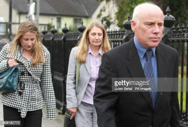 Mother Julie sister Jess and father David at Nenagh Court House CoTipperary where barmen Gary Wright and Aidan Dalton today denied the manslaughter...