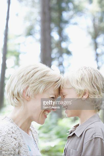 Mother laughing with son